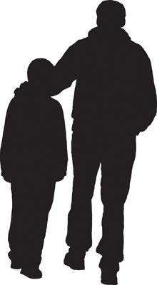 father-son-silhouette